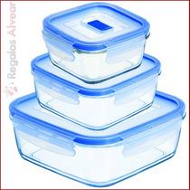 Taper X3 Luminarc Hermetico Purebox Cuadrado Microondas