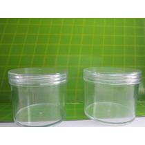 100 Envases/potes De Plástico De 100 Cc Tapa A Rosca