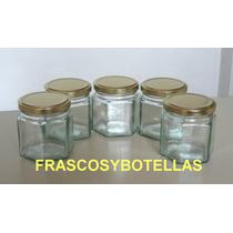 Frascos-envases Vidrio Hexagonal 190 Cc Pack 40 Unidades