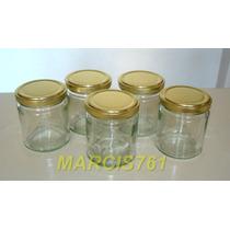 Frascos-envases Vidrio 200 Cc Con Tapa Axial X 40 Unidades