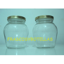 Frascos-envases Vidrio Almendra 360 Cc Pack 19 Unidades