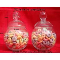 2 Bombonera T/bocha Vidrio C/tapa - Candy Bar - Carameleras