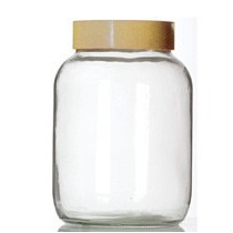 Frascos Vidrio 3000cc.3 Litros Con Tapa De Plastico A Rosca