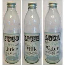 Botella De Vidrio Retro Agua-jugo-leche*tiendadenda*