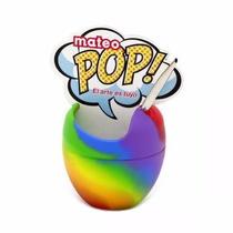 Mate Mateo Pop Silicona Con Bombilla Multicolor