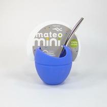 Mate Mateo Mini Silicona Con Bombilla Varios Colores