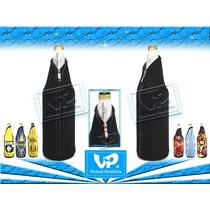 Conservadora Cerveza Cierre Negra Champagne Neopreno X10u.