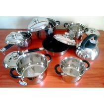 Set Profesional De Cocina De 14 Piezas Triple Fondo. Único