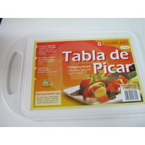 Tabla Plastico Blanca Para Picar Cortar Servir 38,5 X 26 Cm