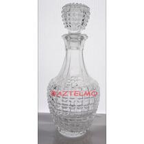 Botellon Decantado Tallado Vintage Con Tapa Impecable Envios