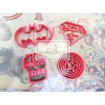 Moldes Cortantes De Cookies Kit Superheroes - Promocion