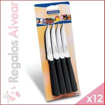 12 Cuchillos Tramontina Originales New Kolor Negro
