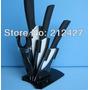 Cuchillos De Ceramica Con Exhibidor 3- 4- 6 Pulgadas + Pela