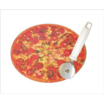 Pizza Set Tabla Cristal+cortador Pedrini Italy Le Toton Casa