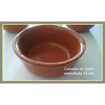 Cazuela De Barro Esmaltada 14 Cm Diámetro