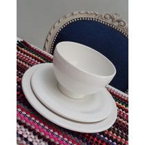 Bowls O Platos Hondos Redondos - Blanco, Verde Y Maiz -