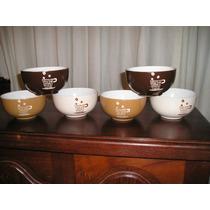 1421- Juego De 6 Bowls Compoteras Nuevos Cereal Frutas Caldo