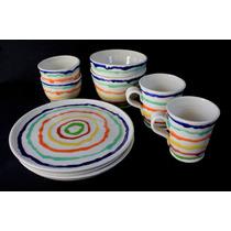 Set Vajilla 2 Personas Platos Tazas Cuencos Juego Ceramica
