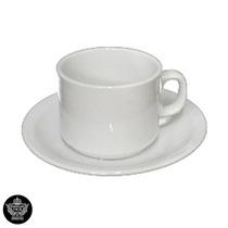 12 Tazas De Café Con Plato Porcelana Tsuji Línea 450