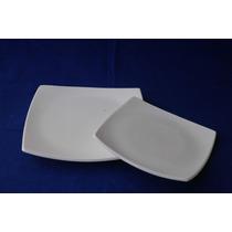 Platos Cuadrados Playos De 26x26cm.vajilla Ceramica