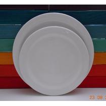 Platos Playos De Color Blanco -26cm De Diámetro-