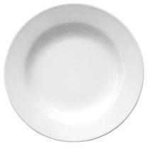 12 Platos Playos Melamina Blanca O Espirales 25cm Gastronomi