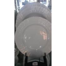 Plato Playo De 25cm. Porcelana Tsuji. Modelo 1200, Blanco.