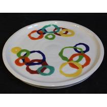 Platos Playos Decoracion Ceramica Redondo Bandeja