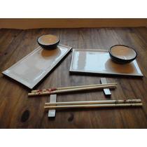 Set De Sushi Artesanal Hecho A Mano. 8 Piezas
