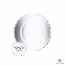 Plato Hondo Luminarc Directoire 25cm Vidrio Templado X6u