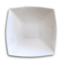 Plato Hondo Cuadrado De Porcelana De 19,5cm Blanco De 2da