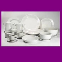 Vajilla Porcelana Tsuji 1150 Blanca Plato Playo Ss