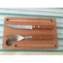 Plato Rectangular Regalo Empresarial Con Cuchillo Y Tenedor