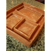 Juego Set De Platos Picada Vajilla Etc. 4 Piezas Ceramica