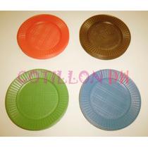 Platos Plásticos Color 17cm X 50un. - Oferta!!