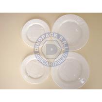 Platos Plasticos Descartables 17cm. X 50un. Blancos