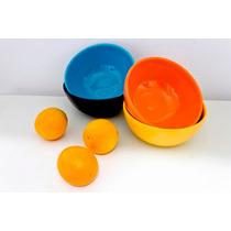 Bowl Ensaladera Ceramica-set: Bowl +4 Compoteras Ancers-*td*