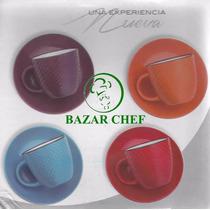 Juego De Té Lunares 6 Tazas + Platos + Soporte - Bazar Chef