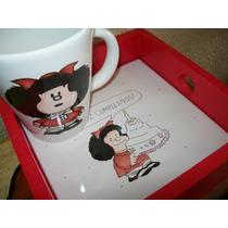 Desayuno Infantil Taza Y Bandeja Personalizado Mafalda