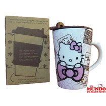 Taza Con Tapa Hello Kitty - El Mundo De Hello Kitty