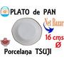 Plato Pan Chico Tsuji Octogonal Dorada Oro Entrada Porcelana