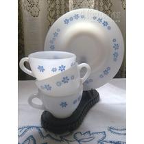 Tazas De Café + Plato Opalina Rigopal