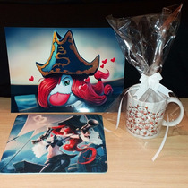 Combo Taza + Mousepad + Poster A4 League Of Legends Oferta
