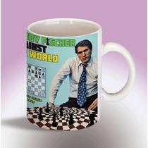 Ajedrez Bobby Fischer Taza Coleccion Unica Pocas Unidades