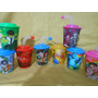 10 Vasos 3d Cars Ben 10 Aviones Mickey Minie Kitty