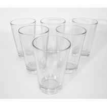 Barnett & Foster -set De 6 Vasos Cónicos De Vidrio De Durax