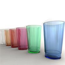 Vaso Cristal Acrilico Multifacetado Colores Resistente X24u