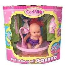 Muñeca Cariñito Bañando A Mi Gordito Original
