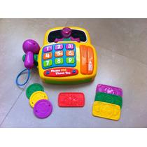 Caja Registradora Barney Con Luces Y Sonido!