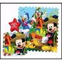 Piso De Goma Eva Mickey Mouse 9 Piezas 90x90 Tapimovil